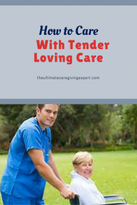 Male caregiver pushing female client|How to care with tender loving care