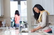 woman washing dishes|Cleaning, Caring, and Maintaining a Healthy Environment