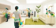 Woman cleaning the living room|Cleaning, Caring, and Maintaining a Healthy Environment