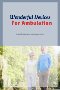 Senior man and woman walking|Wonderful devices for ambulation
