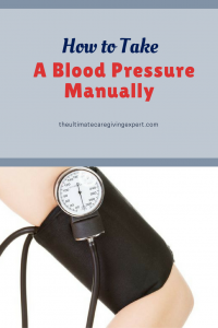 Arm with blood pressure cuff|How to take a blood pressure manually