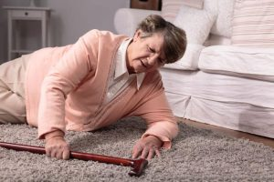 Elderly woman on the floor|How to be a Caregiver After Hip Fracture