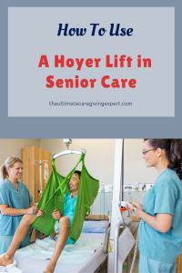 Nurses with man in a hoyer lift|How to use a hoyer lift in senior care