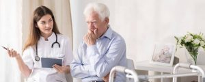patient talking with young doctor about palliative care|How to Understand Palliative Care