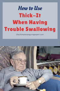 Man unable to swallow his coffee | How to use thick-it when having trouble swallowing
