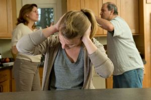 Daughter covers ears while parents fight|How To Deal With Dysfunctional Family Members