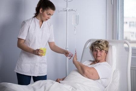 Woman Refusing to take medication